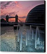 Tower Bridge Sunrise Canvas Print by Donald Davis
