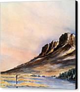 Trout Farm Canvas Print by Don F  Bradford