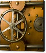 Tumbler Bank Vault Door Canvas Print by Adam Crowley