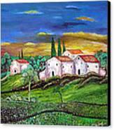 Tuscany Canvas Print by Kostas Dendrinos