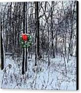 Tyra's Woods At Christmas Canvas Print