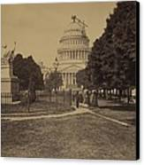 United States Capitol Building In 1863 Canvas Print