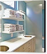 Upscale Bathroom Interior Canvas Print