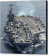 Uss Abraham Lincoln Transits The Indian Canvas Print by Stocktrek Images