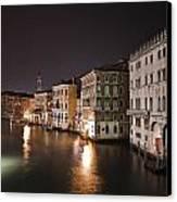 Venice By Night Canvas Print