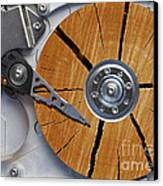 Very Old Hard Disc Canvas Print by Michal Boubin