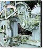 Vintage Steam Powered Lumber Collector Canvas Print