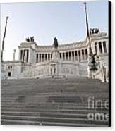 Vittoriano Monument To Victor Emmanuel II. Rome Canvas Print by Bernard Jaubert