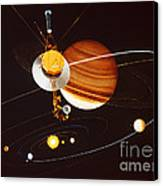 Voyager Saturn Flyby Artwork Canvas Print by Science Source
