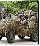 Vw Iltis Jeeps Used By Scout Or Recce Canvas Print