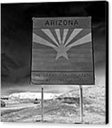 Welcome Sign Canvas Print by David Lee Thompson