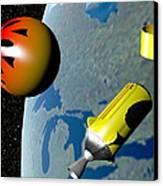 Wild Fire Private Spacecraft, Art Canvas Print by Christian Darkin