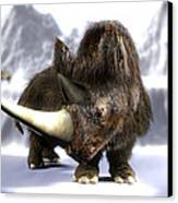 Woolly Rhinoceros Canvas Print by Christian Darkin