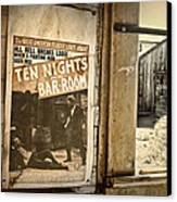 10 Nights In A Bar Room Canvas Print by Scott Norris
