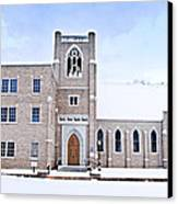 1001-0369 Cherry Street Baptist Of Clarksville Canvas Print by Randy Forrester
