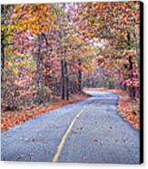 1010-4486 Petit Jean Autumn Highway Canvas Print by Randy Forrester