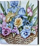 1119 B Flower Basket Canvas Print by Wilma Manhardt
