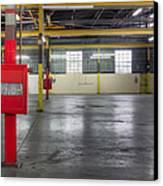 An Empty Industrial Building In Los Canvas Print by Dan Kaufman