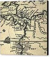 1698 W. Dampier Pirate Naturalist Map Canvas Print by Paul D Stewart