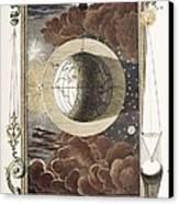 1731 Johann Scheuchzer Creation 4th Day B Canvas Print