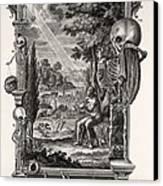 1731 Johann Scheuchzer Creation Of Man Canvas Print