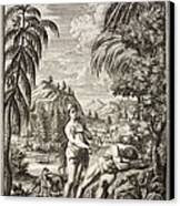 1731 Scheuchzer Creation Adam & Eve Canvas Print by Paul D Stewart