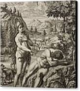 1731 Scheuchzer Creation Adam's Rib & Eve Canvas Print by Paul D Stewart