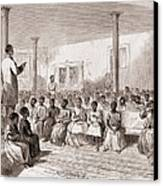 1866 Classroom Of Zion School Canvas Print