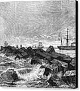 Suez Canal Construction Canvas Print by Granger