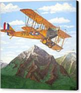 1917 Curtis Jenny Jn4 Used By The Army Air Corps Canvas Print by Mickael Bruce