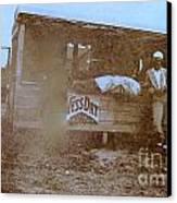 1920s Sepia Farm Stand Canvas Print by Debbie Wassmann