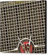 1930 Cadillac 452 Fleetwood Grille Emblem Canvas Print