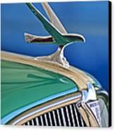 1935 Hudson Touring Sedan Hood Ornament Canvas Print