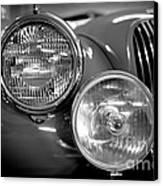 1952 Jaguar Headlights Canvas Print