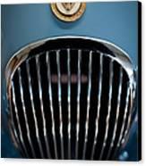 1952 Jaguar Hood Ornament And Grille Canvas Print