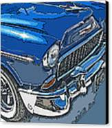 1955 Chevy Bel Air Front Study Canvas Print by Samuel Sheats