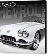 1960 Corvette Canvas Print by Mike McGlothlen