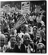 1963 March On Washington. Close-up Canvas Print