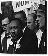 1963 March On Washington. Martin Luther Canvas Print by Everett