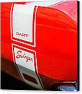 1969 Dodge Dart Swinger 340 Canvas Print by Thomas Schoeller
