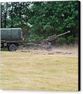 A Belgian Artillery Unit Setting Canvas Print