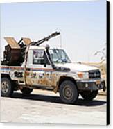 A Free Libyan Army Pickup Truck Canvas Print