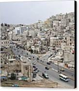 A Street Scene In Amman, Jordan Canvas Print by Taylor S. Kennedy