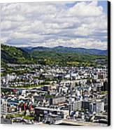 Aerial Japanese Cityscape Canvas Print by Jeremy Woodhouse