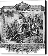 Battle Of Fallen Timbers Canvas Print by Granger