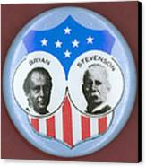 Bryan Campaign Button Canvas Print