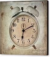 Clock Canvas Print by Bernard Jaubert