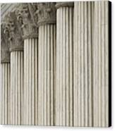 Columns Of The Supreme Court Canvas Print by Roberto Westbrook