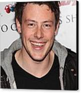 Cory Monteith At In-store Appearance Canvas Print
