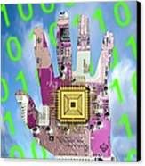 Cybernetics And Robotics Canvas Print by Victor De Schwanberg